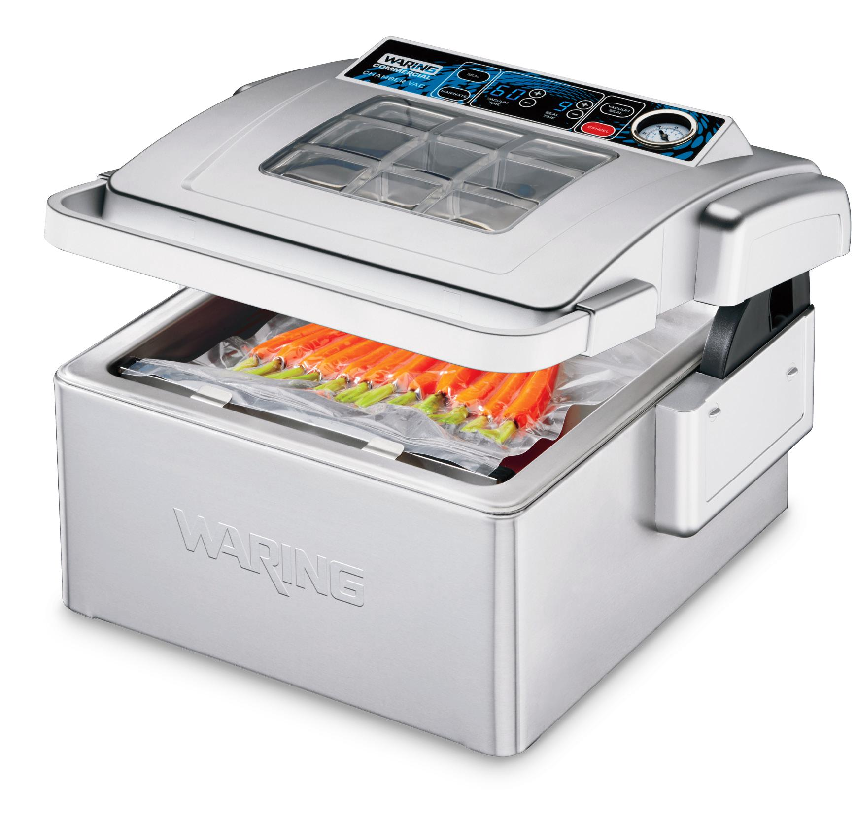 Waring's Chamber Vacuum Sealer reduces food costs, saves on storage space and can prepare your food