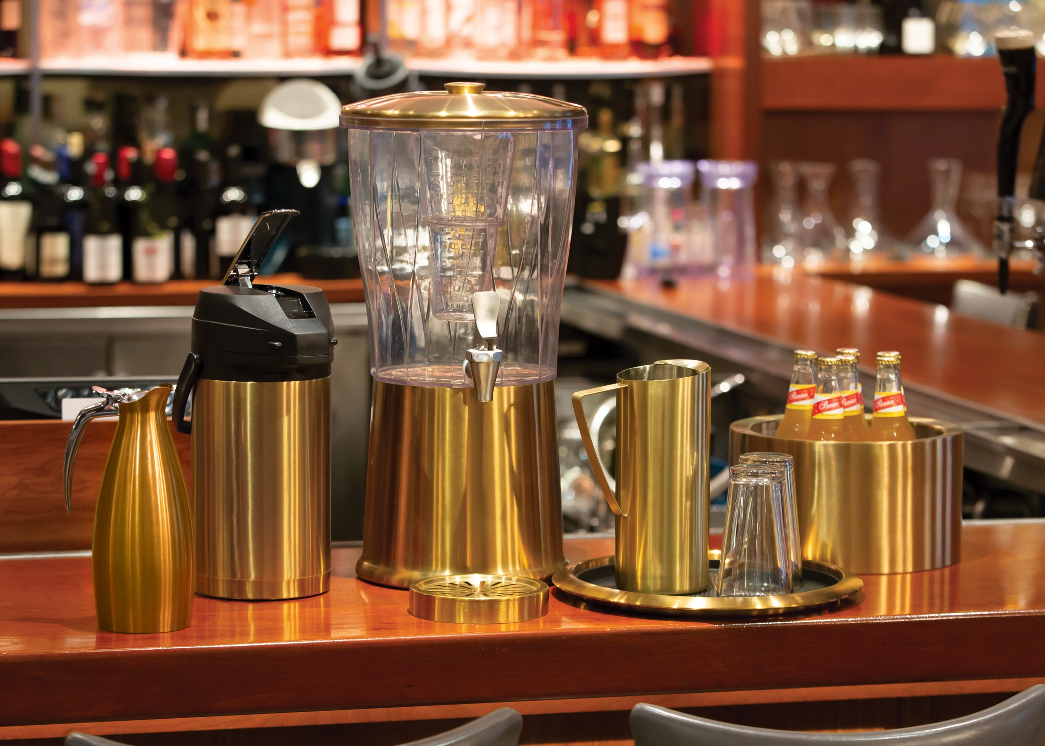 Photo of buffet glassware at a restaurant by company Service Ideas