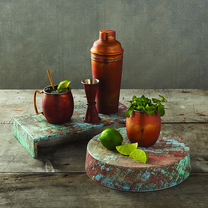 picture of bar supplies on wood serving boards