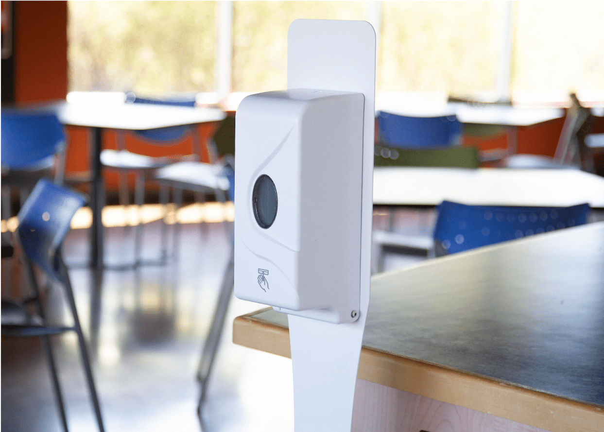 Touchless hand sanitizer pump
