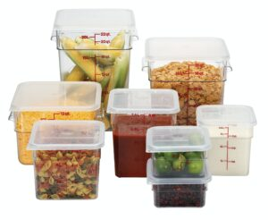 eight food storage containers